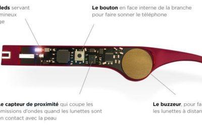 Intégration circuit électronique dans des branches de lunettes – Atol